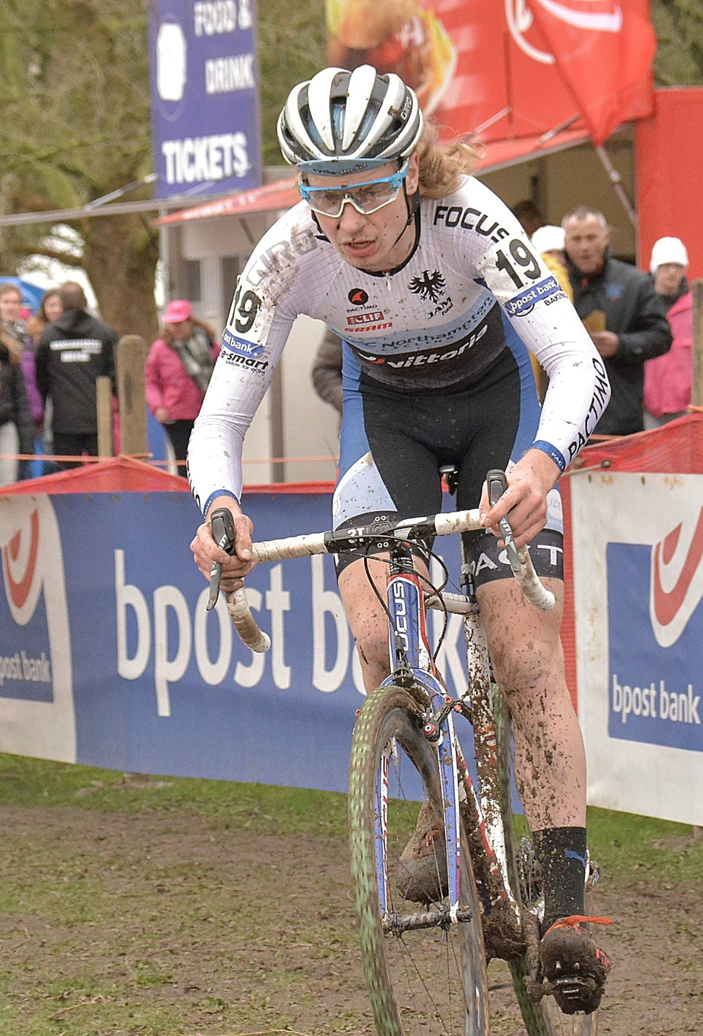 Scott Smith racing at Bpost Bank Trofee in Sint-Niklaas, Belgium on Feb. 6. Photo by Josef Cooreman.