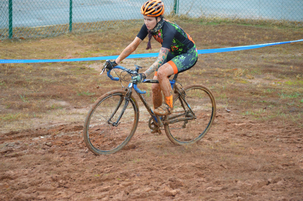 Rhys May in her former team kit during the Georgia CX Series on December 17, 2014. Photo by Ali Whittier.