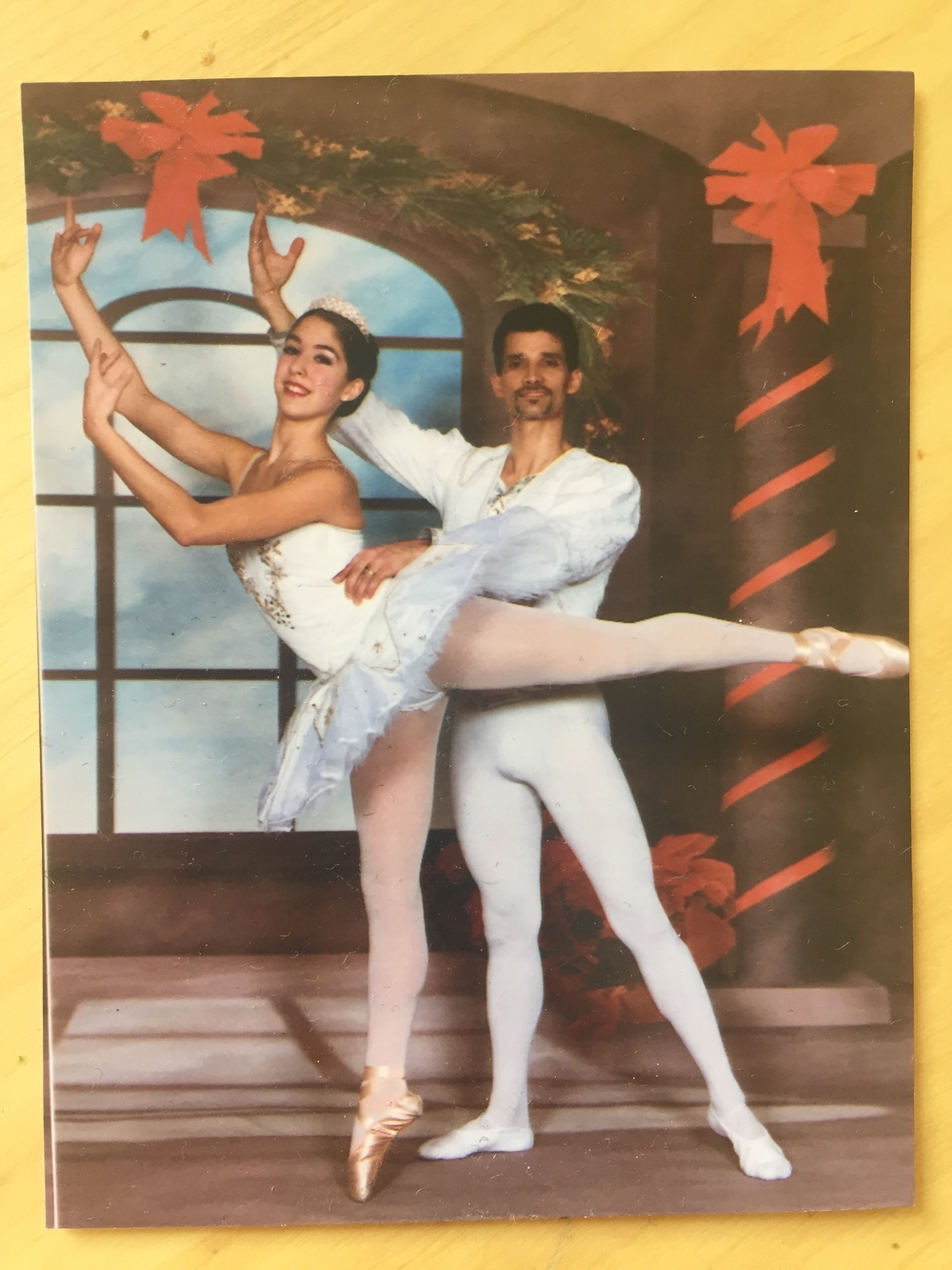 A 14-year-old Natalie Tapias pictured as the Snow Queen in The Nutcracker at the Vancouver Dance Theater in December 2002.
