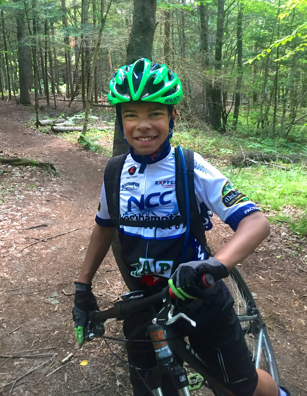 Jaden Wise on a leisurely mountain bike ride. Photo by Greg Wise.