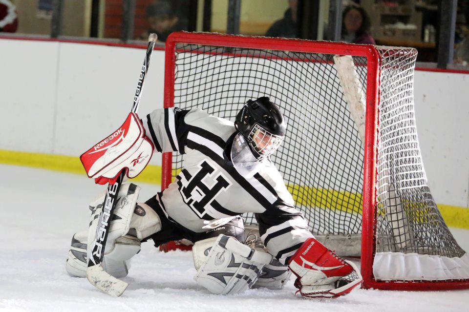 Erik Carlson played goalie for his high school hockey team, but gave it up for cycling.
