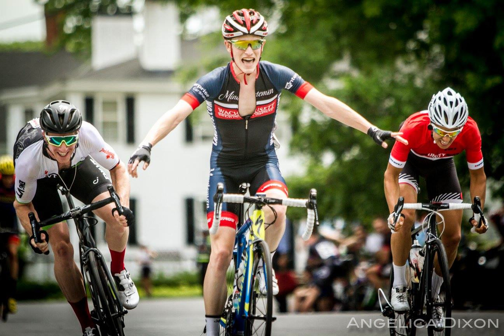 Patrick Collins won the Ken Harrold Memorial Road Race on June 4 in Harvard. Photo courtesy Angelica Dixon.