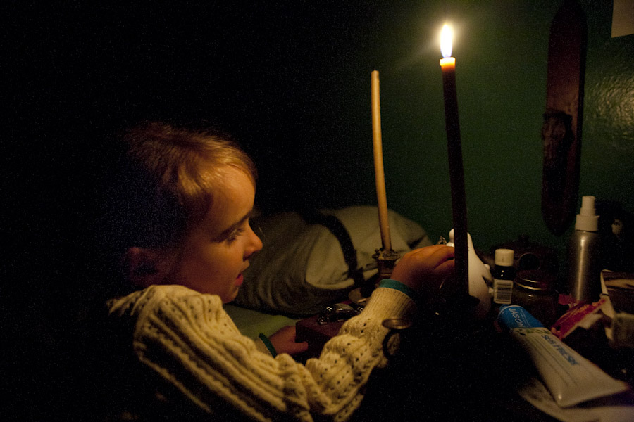 candlelight, living without electricity, homestead, rural missouri, northern missouri, intentional community, off the grid