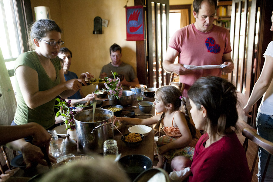 possibility alliance, community eating, eating at the dinner table, sustainable eating, organic eating, sustainable living, homesteading, homestead