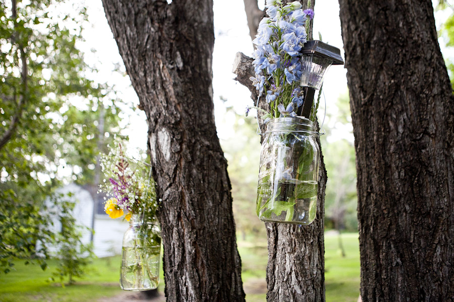 mason jar flower vases wedding