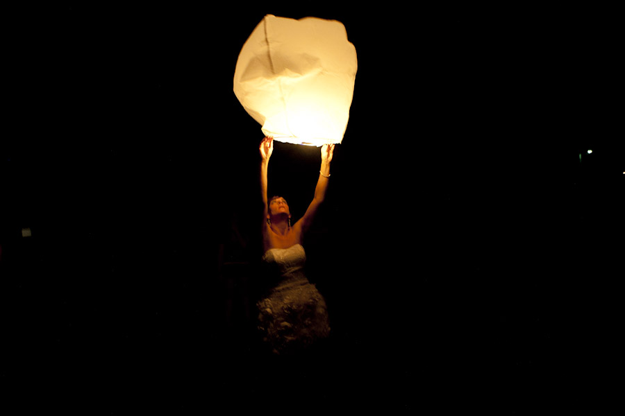 fire light lanterns wedding
