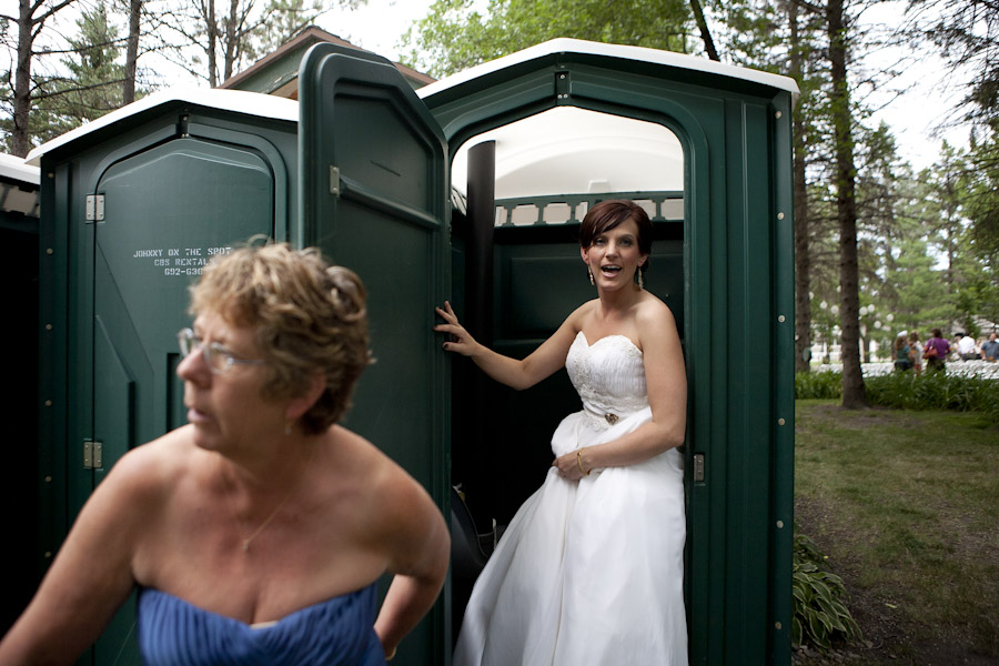 bride porta potty