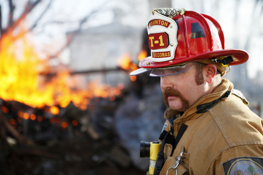 firefighter moustache