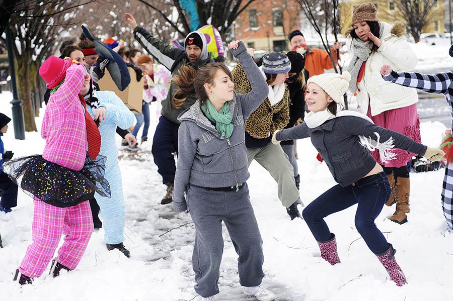 STA snow dance