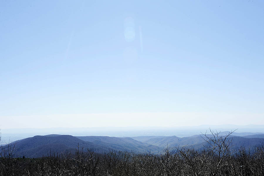 A view of the Shenandoah Valley can be seen from the top of Reddish Knob on Thursday, April 25, 2013, inside George Washington National Forest. Environmental groups worry the national forest could be opened up to tracking, or high volume hydraulic fracturing, a controversial natural gas drilling method.