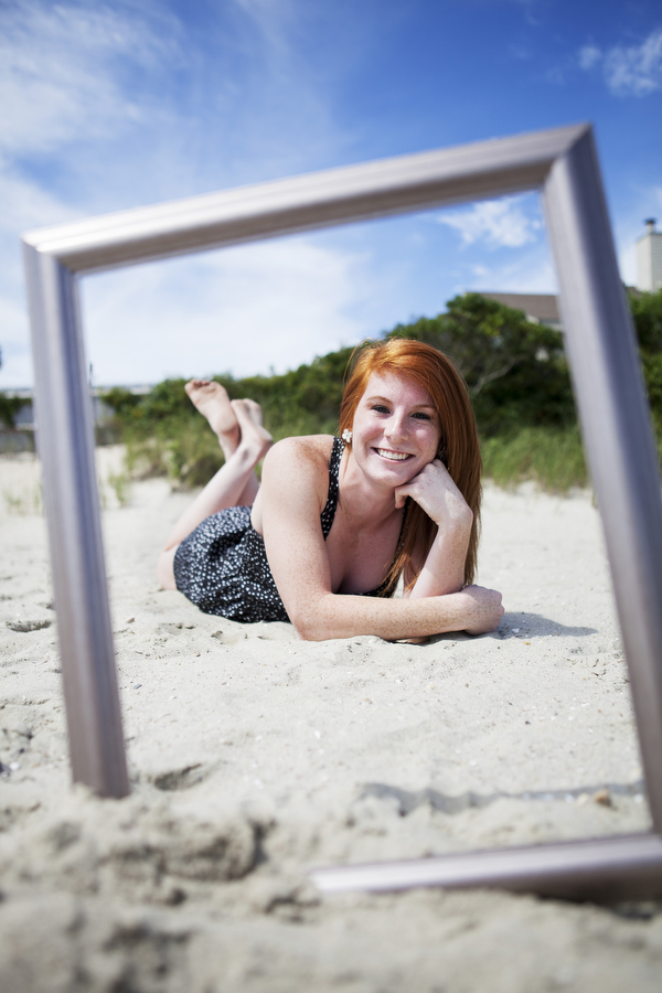 senior pictures beach picture frame