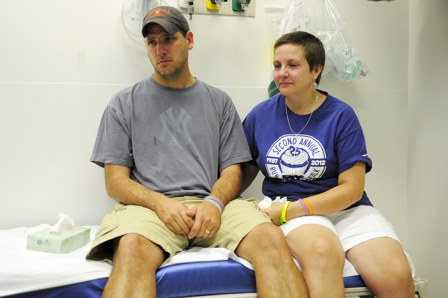 John and Colleen hear MRI results from Dr. Druzgal on Sept. 5. The tumors were growing, she told them.