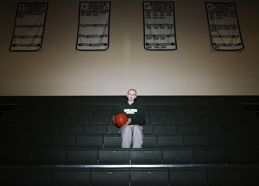 Rachel Gray has recovered from cancer and is back playing basketball for Wilson Memorial this year for the varsity team on Thursday, Jan. 3, 2014, in Fishersville.