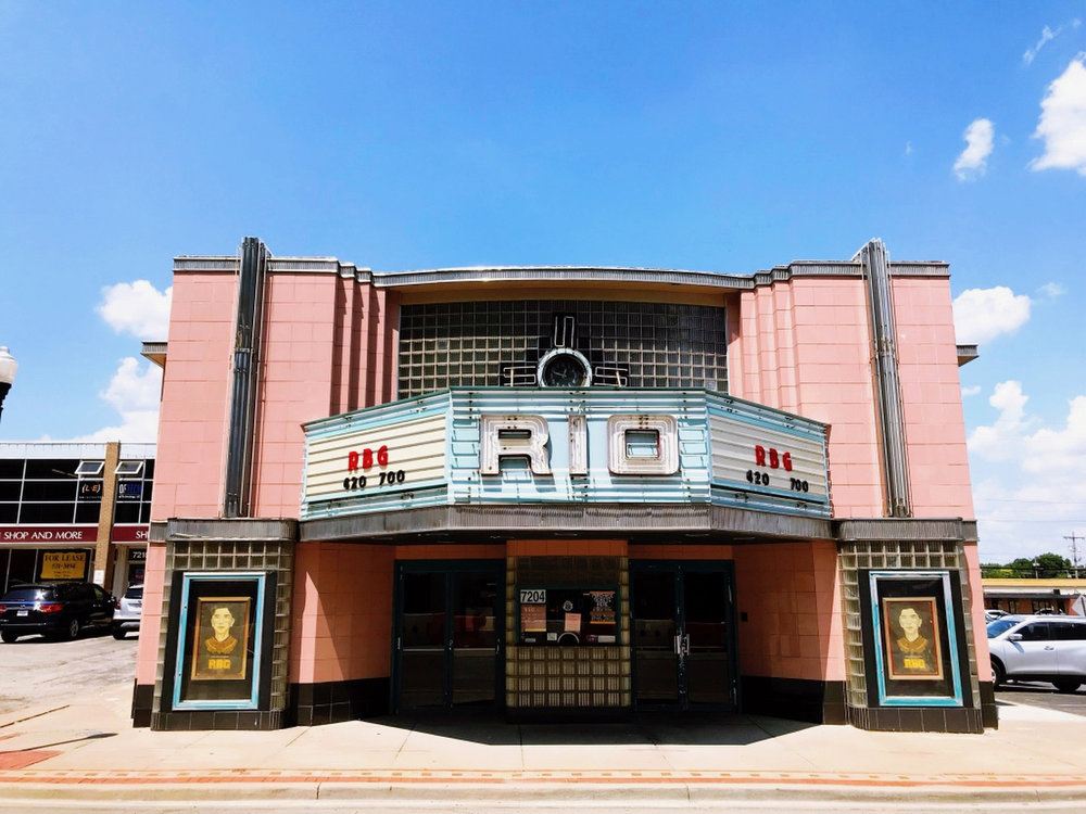 The Rio Theater in Overland Park, Kansas