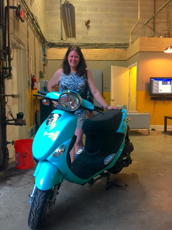 Michelle comes from a riding family and wants to get into riding so she decided to start off with a Genuine Buddy 50!