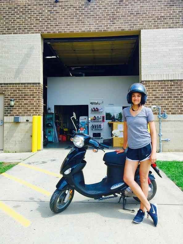 Alex picked up this Sweet Barely used Buddy 50 for a great deal! her second scoot from us!