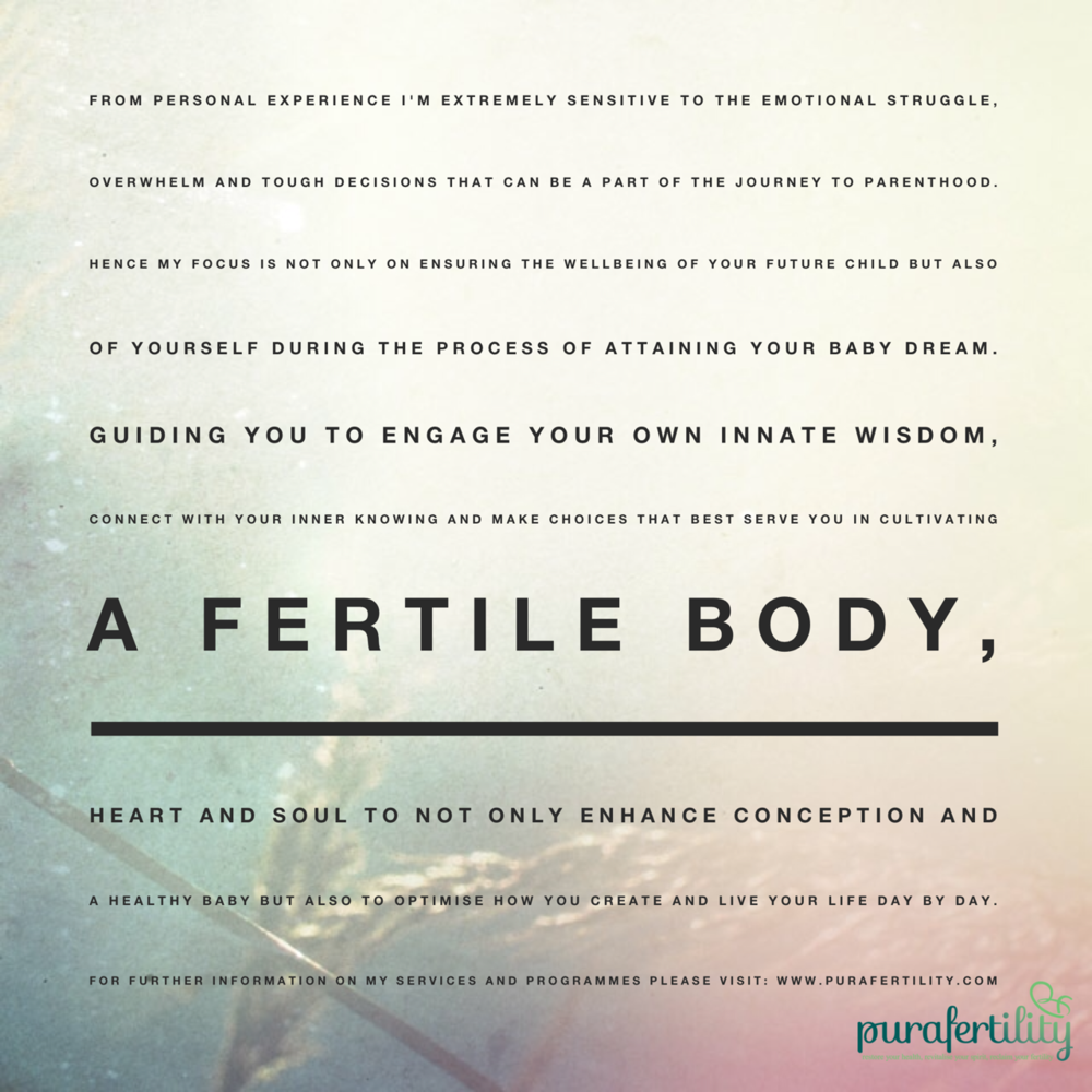 about purafertility - fertile body - enhance conception
