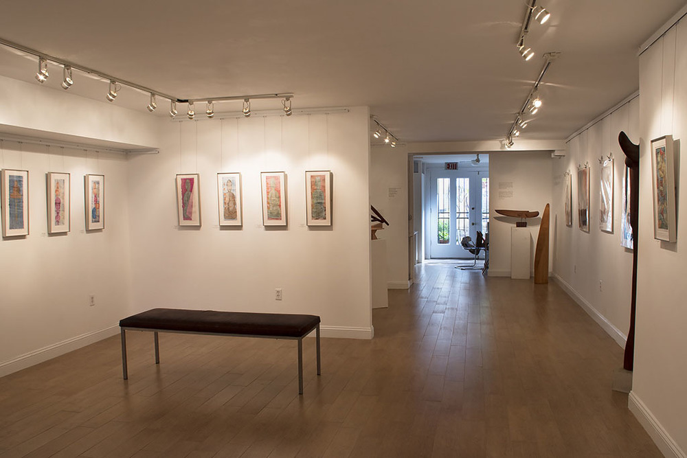 Downstairs Exhibition Space with Thai Artwork