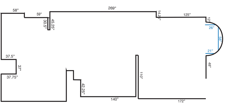 Floor Plan for Downstairs