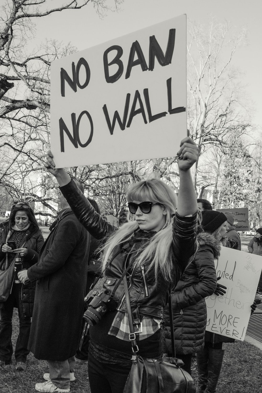 "No Ban, No Wall   Lisa Allen  Archival Pigment Print  14"" x 20""  $350   Click here to inquire."