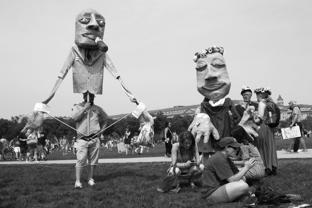 """Puppets Take Washington   Lisa Allen  Archival Pigment Print  20"""" x 14""""  $350   Click here to inquire."""