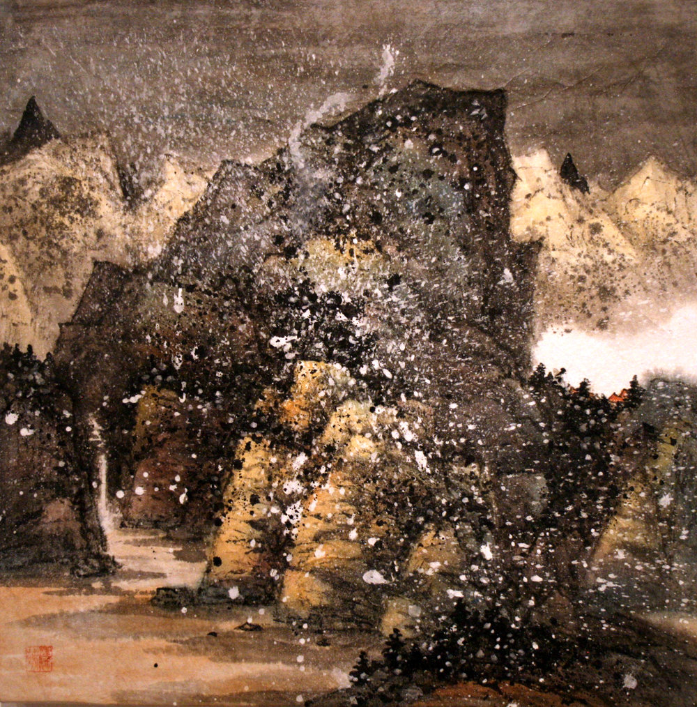 """A Journey Not Yet Finished   Freda Lee-McCann  Mixed Media  18"""" x 18""""  SOLD"""