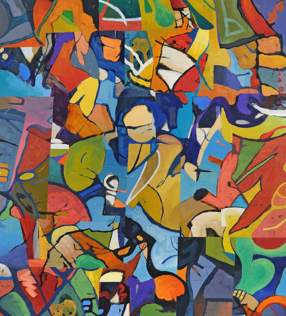 "Conglomeration   Deborah Addison Coburn  Oil on Canvas  36"" x 40""  $1,800   Click to Inquire"