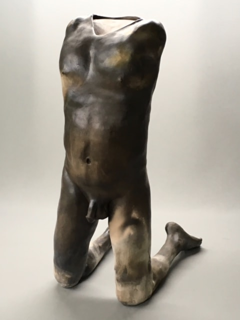 """Call Heaven and Earth to Witness   Pit-Fired Ceramic  26"""" x 12"""" x 17""""  $3,000   Click to Inquire"""