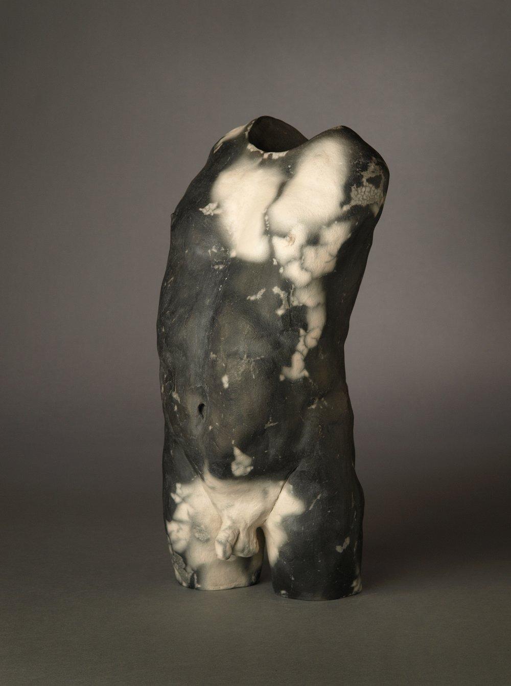 "Self-Confidence   Chris Corson  Raku-fired Ceramic  15"" x 6"" x 6""  $2,000   Click here to Inquire"