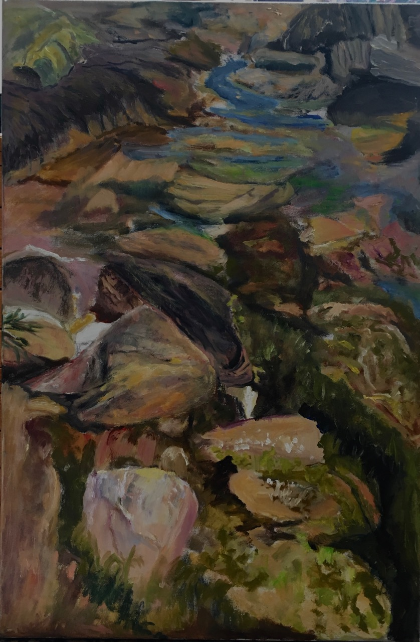 "Maine Tide Pool   Suzanne Goldberg  Oil on Canvas  36"" x 24""  $1,500   Click here to Inquire"