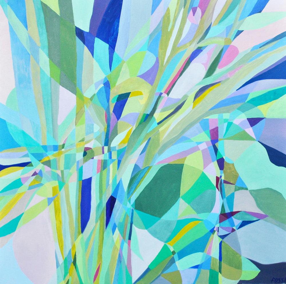 """Riposte   Nicole Fossi  Oil on Canvas  36"""" x 36""""  $1,200   Click here to Inquire"""
