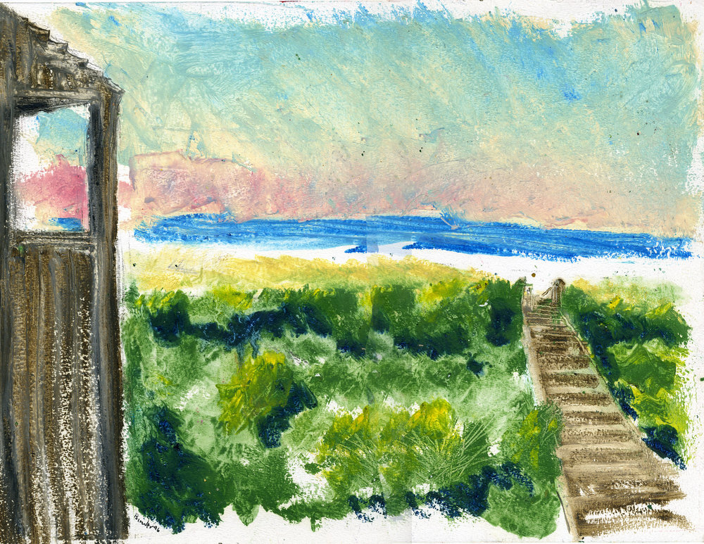 "Morning at Fripp   Gordon Binder  Oil on Paper  11"" x 13-¼""  $585   Click here to Inquire"