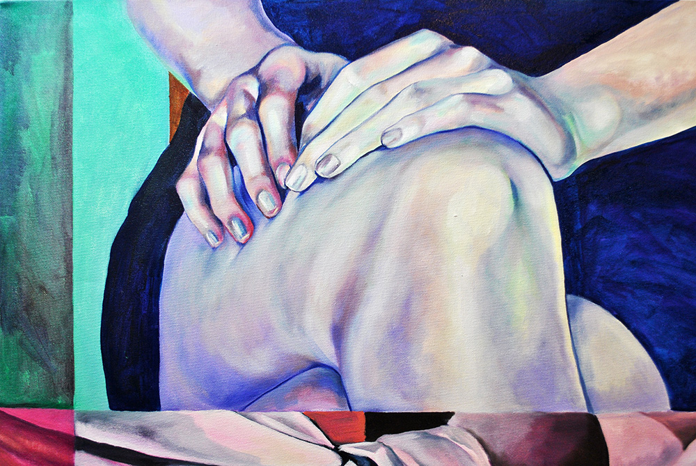 Nicole Ida Fossi.Self, Directed (detail).Oil on canvas.40 in x 40 in