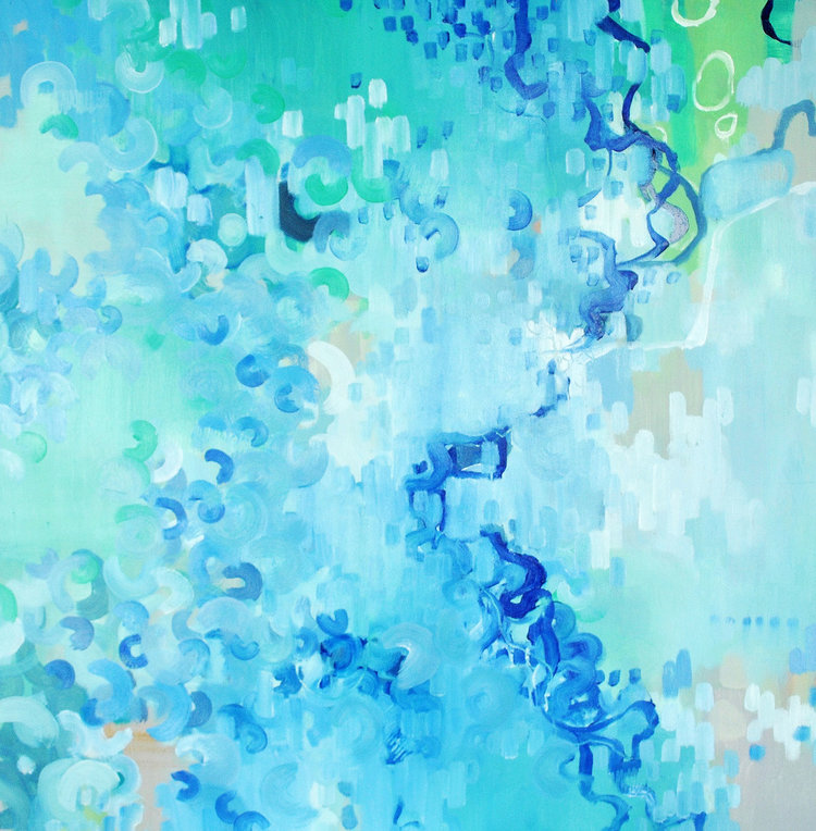 "Languid , Nicole Ida Fossi. Acrylic on Canvas. 30"" x 30"". 2014."
