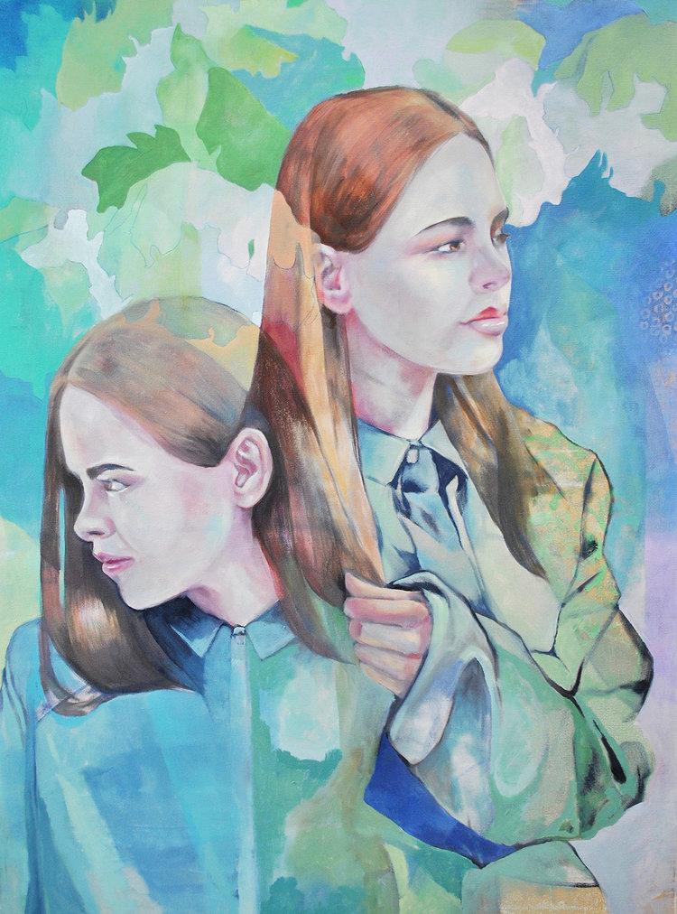 "Consideration , Nicole Ida Fossi. Oil on canvas, 30"" x 40"", 2016."