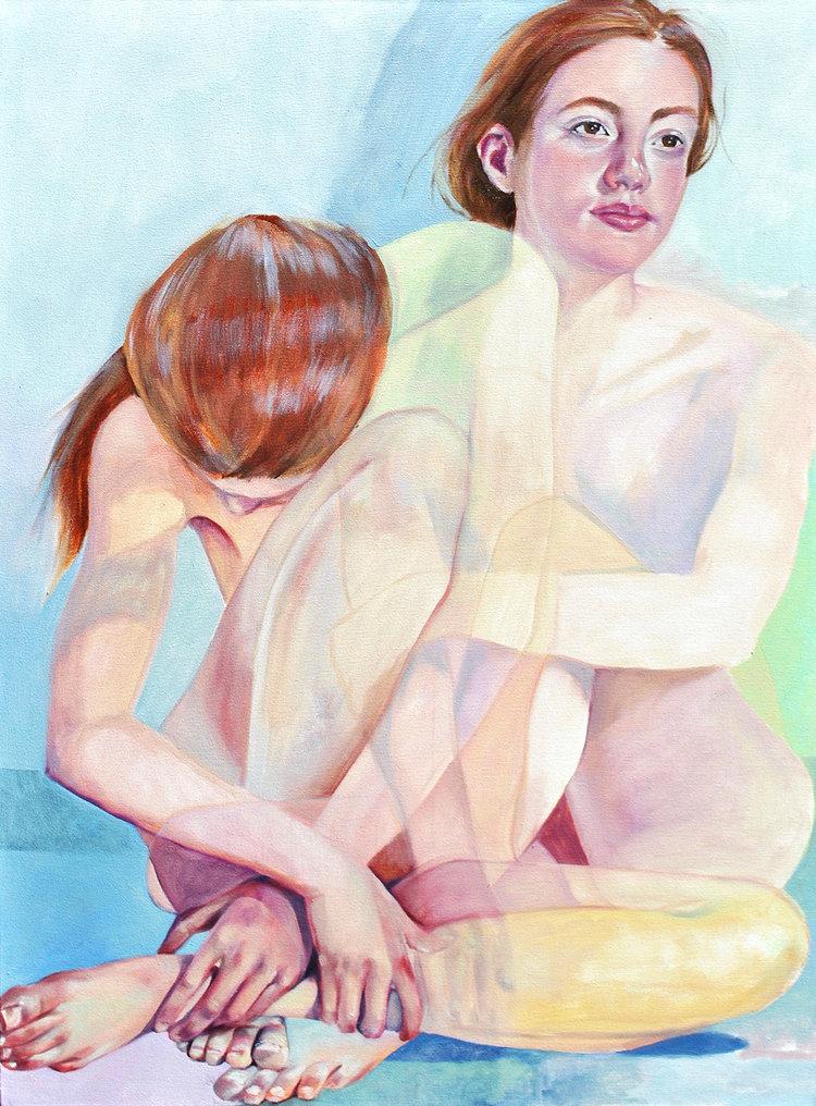 "Double Take , Nicole Ida Fossi. Oil on canvas. 30"" x 40"". 2016,"