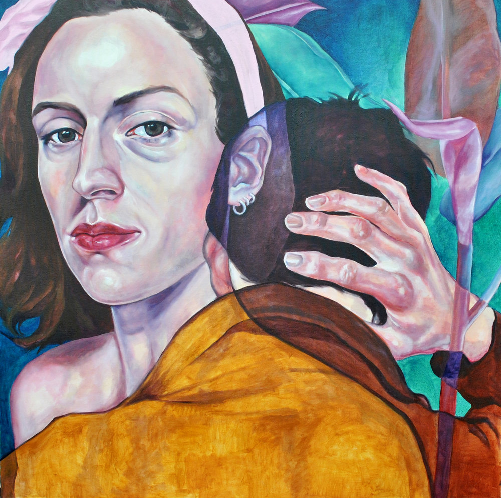 """I'm Sorry My Breakdown Came at an Inconvenient Time for You   Nicole Ida Fossi  Oil on Canvas  40"""" x 40""""  $1200   Click here to Inquire"""