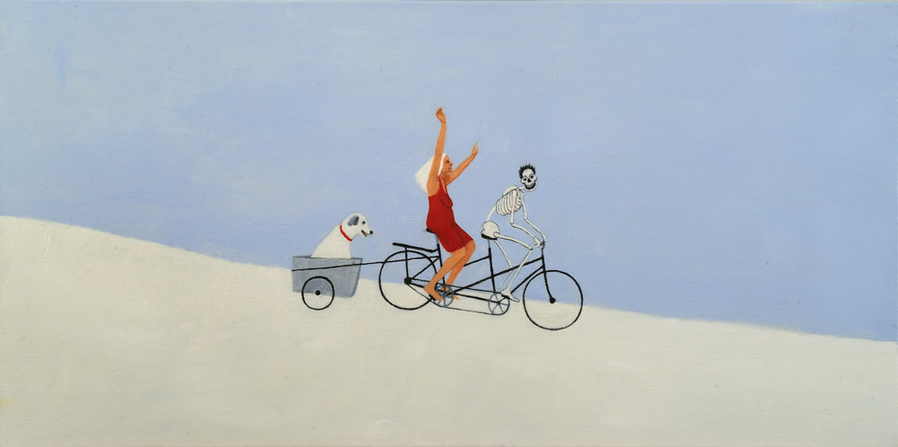 """Cycle of Life: Winter   Miriam Keeler  Oil on Canvas  30"""" x 15""""  $400 ($1500 for set of 4)   Click here to Inquire"""