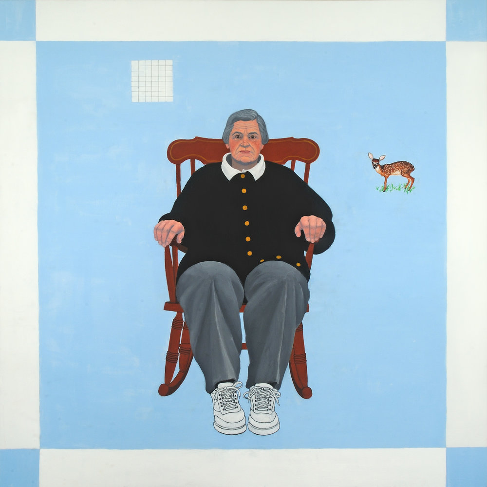 """Homage to Agnes Martin   Miriam Keeler  Oil on Canvas  36"""" x 36""""  SOLD   Click here to Inquire"""