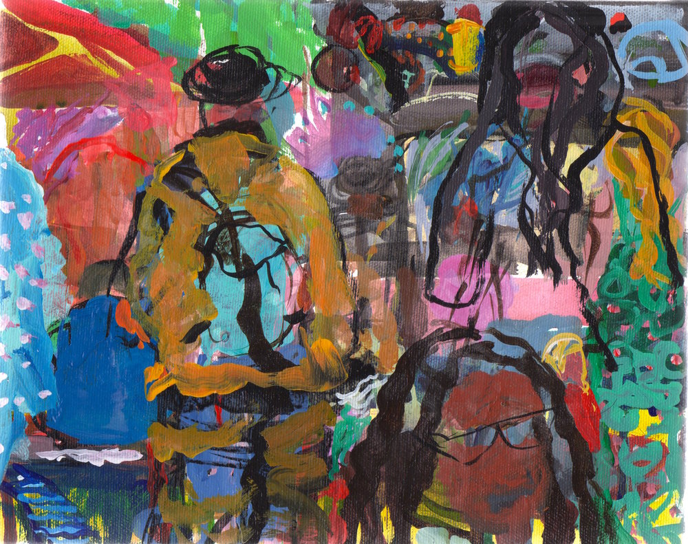 """202 Festival   Acrylic on canvas  8"""" x 10""""  $400   Click here to inquire."""