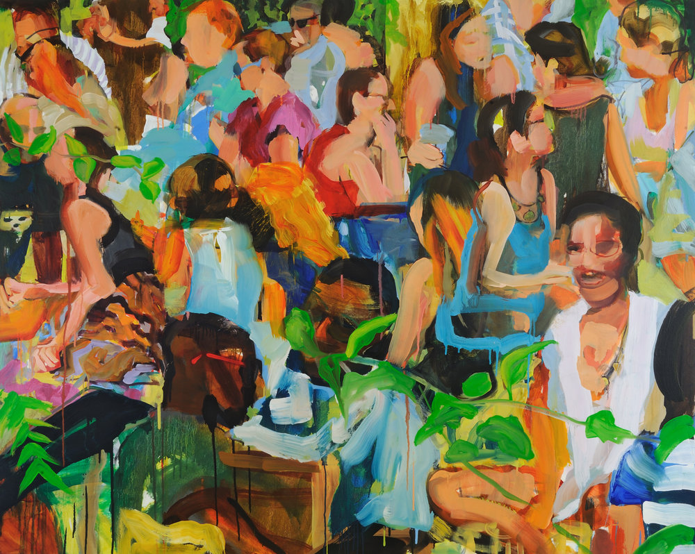 """Take It Easy   Oil on canvas  48"""" x 60""""  $4000   Click here to inquire."""