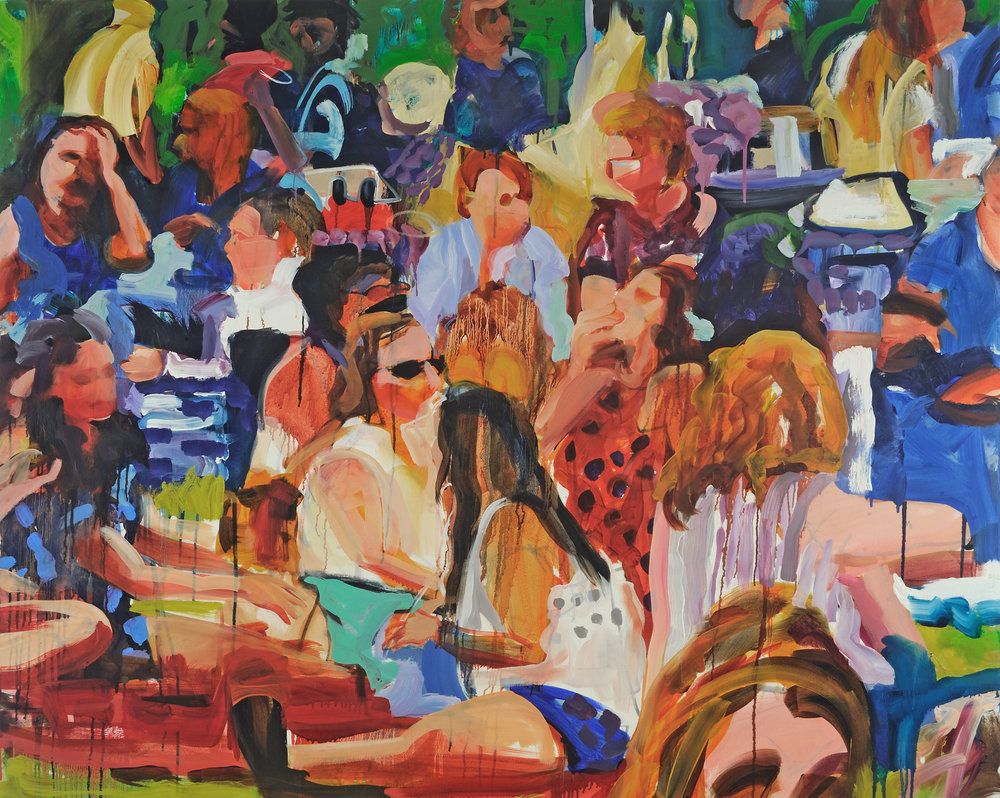 """Chill Out   Oil on canvas  48"""" x 60""""  $4000   Click here to inquire."""
