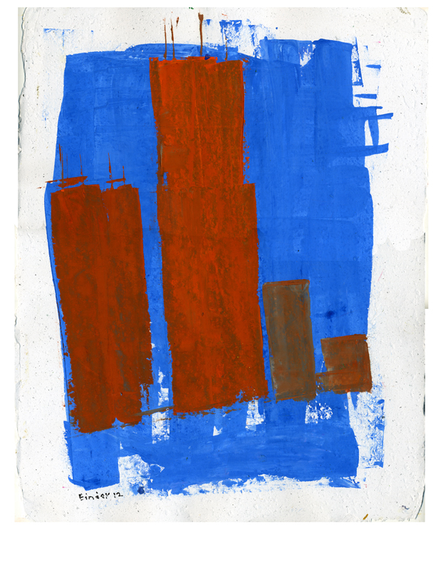 """Gordon Binder   Oil on grey, handmade Egyptian paper with deckled edge  14.75"""" x 11.5"""", Framed: 18-1/2""""x15""""  $665   Click here to Inquire"""
