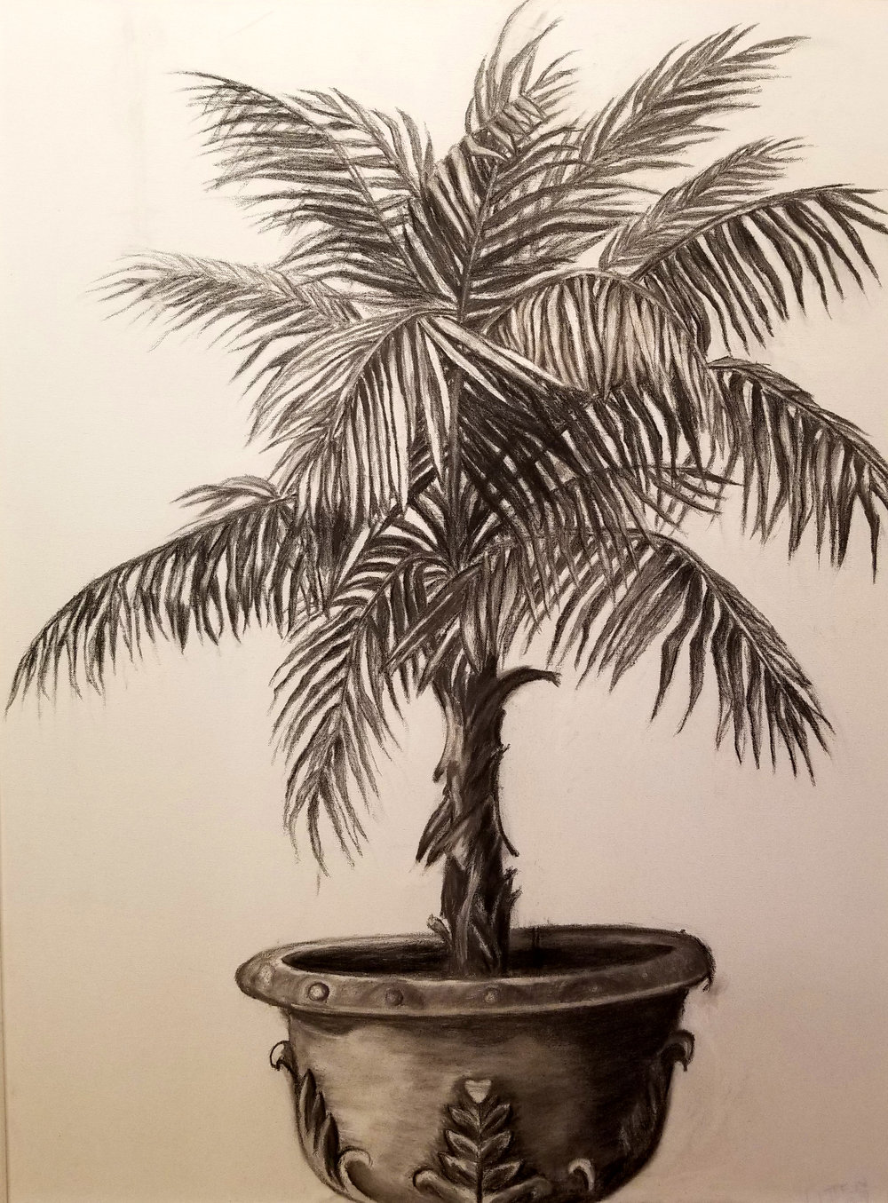 """Laura Litten   Gesso, charcoal, pencil on canvas  43"""" x 34""""  $900   Click here to Inquire"""