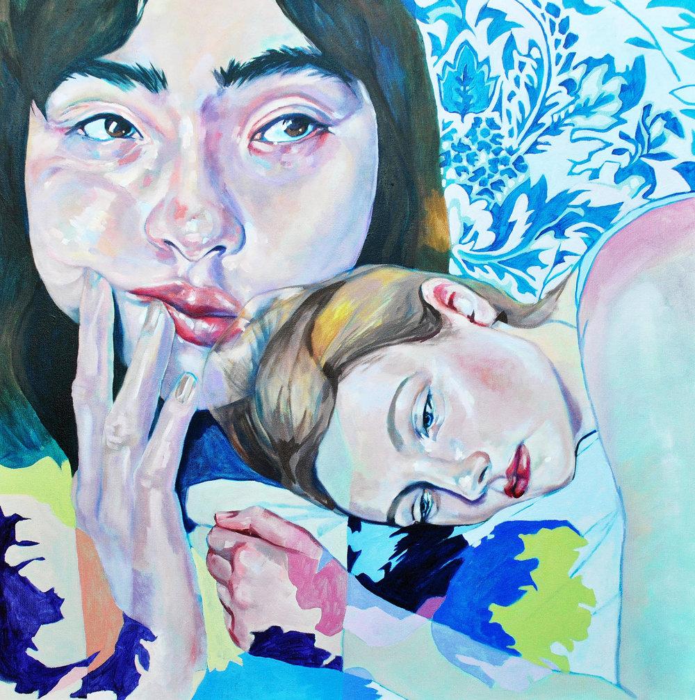 """Nicole Ida Fossi   Oil on canvas  30"""" x 30""""  $1,000   Click here to Inquire"""