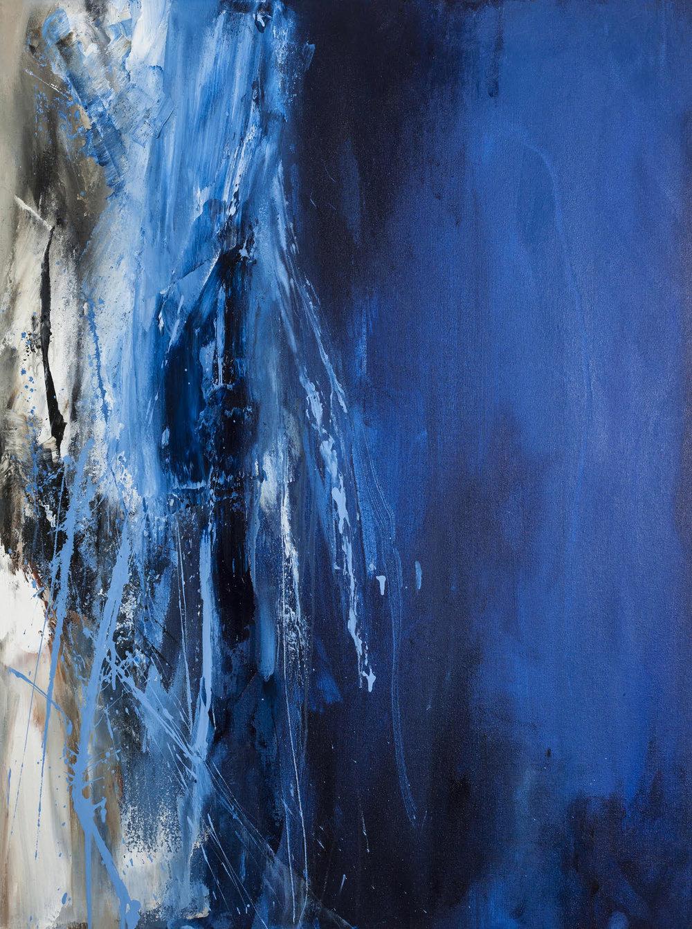 """Blue Monday, Acrylic on Canvas,40"""" x 30"""""""