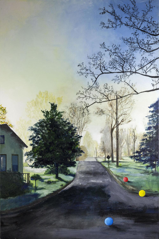 "Morning Mist, Catskills, Acryllic on Canvas,36"" x 24"""