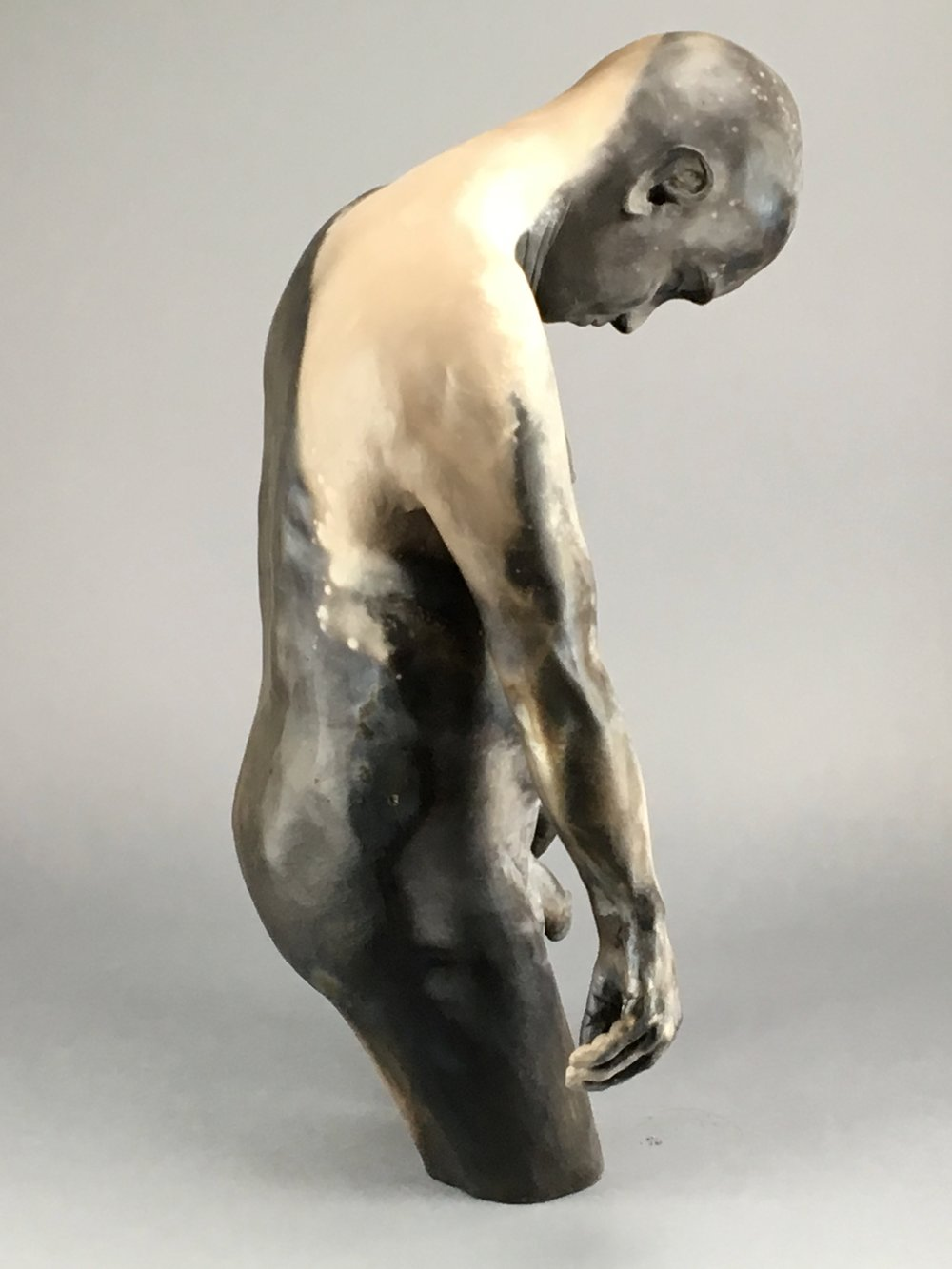 """Cosmos   Pit-fired Ceramic  15"""" x 13"""" x 24""""  $3000  Click Image to Enlarge   Click here to inquire"""