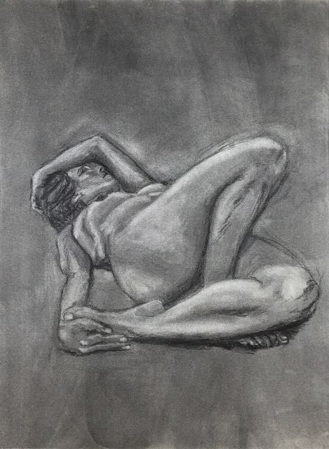 """In the Beginning (1995)   Charcoal  17"""" x 23""""  NFS  Click Image to Enlarge"""