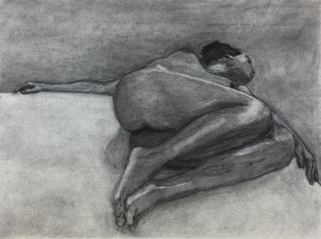 """Separating the Light From the Dark (1995)   Charcoal  17"""" x 23""""  NFS"""